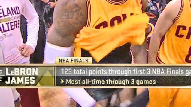 Oops…! ABC just accidentally aired Lebron's dick on national television.