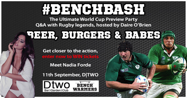 Sign Up For Tickets To #BenchBash – The Ultimate Party Night In Dublin