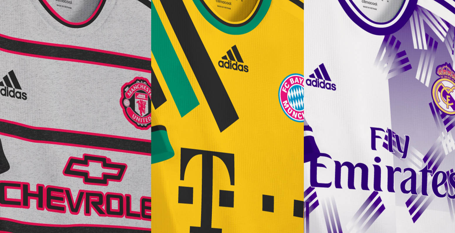PICS: Dodgy Looking 90's Kits Have Been Given A Modern Day Make-Over