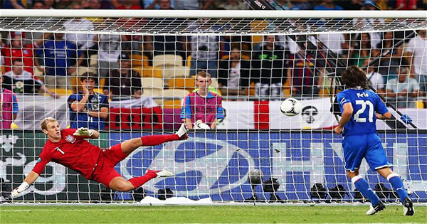 Andrea Pirlo Has Spoken About Why He Decided To Chip Joe Hart At EURO 2012
