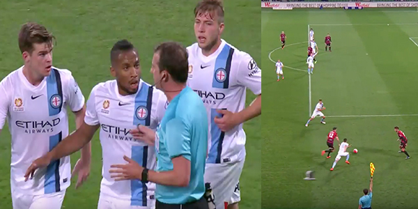Offside Rule Confusion Causes Very Controversial Goal In A-League