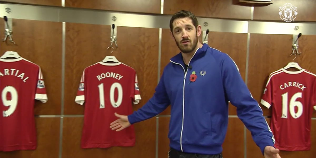 WWE Superstar Wade Barrett Vists Old Trafford In Search Of Wayne Rooney
