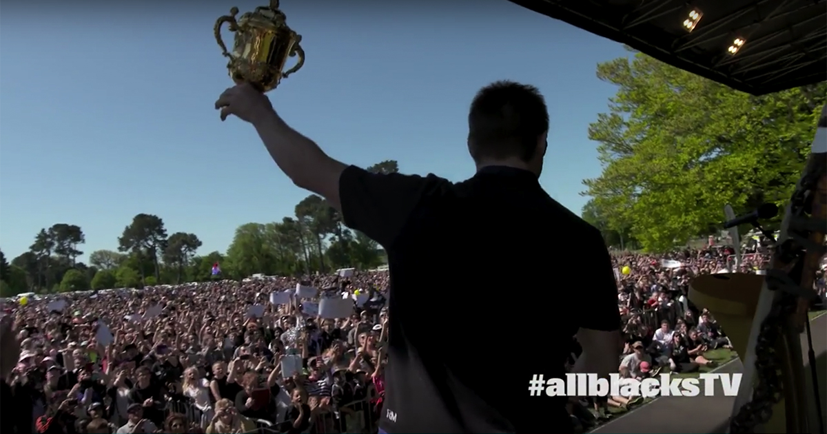 All Blacks Greeted By Thousands During Street Parade In Christchurch