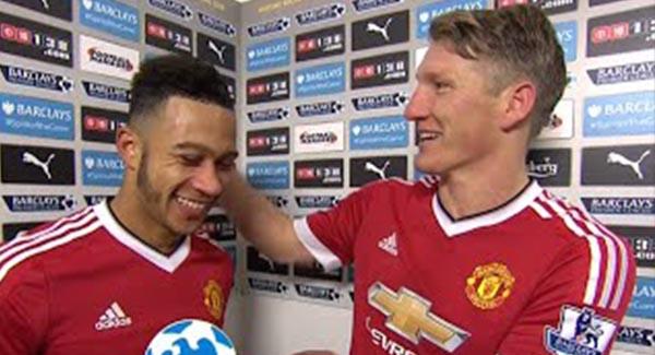 WATCH: Memphis Depay & Bastian Schweinsteiger Post Match Interview