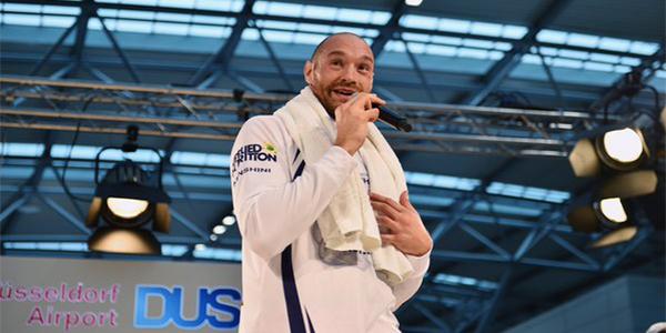 Tyson Fury Treats Team Klitschko To Special Version Of 'Wind Beneath My Wings' In Dusseldorf