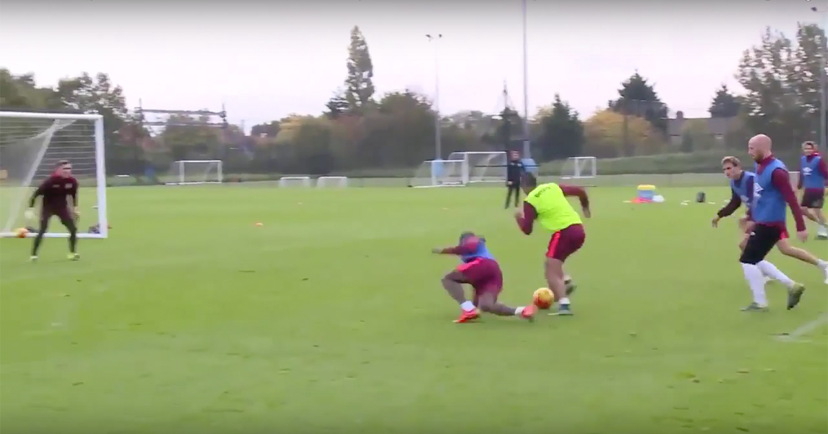 Dimitri Payet Scored A Ridiculous Solo Goal At West Ham Training