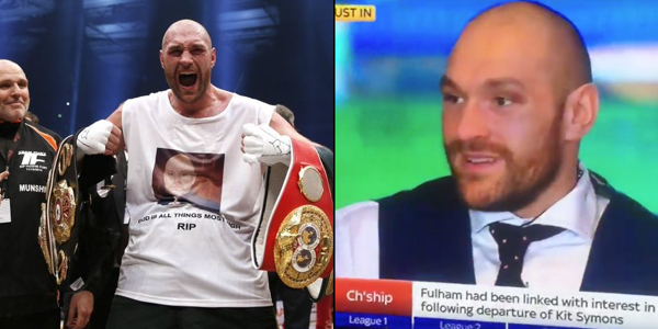 Tyson Fury Has A Very Strong Message For All His Haters