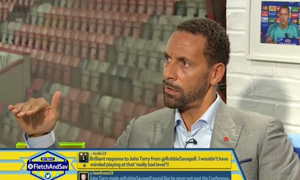 Rio Ferdinand Joined The Robbie Savage/John Terry Debate This Morning