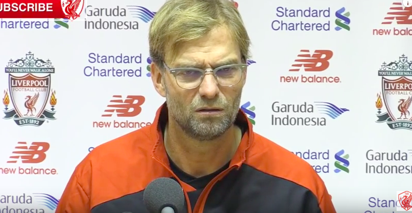 "WATCH: Jurgen Klopp on Liverpool fans leaving early: ""I felt pretty alone in this moment"""