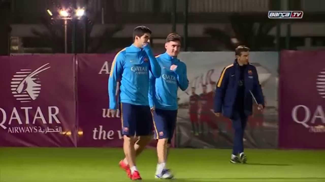 Leo Messi Returns To Barcelona Training Ahead Of El Clasico