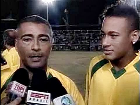 Rare Footage Of 14 Year Old Neymar Teaming Up With Romario At Santos Charity Game