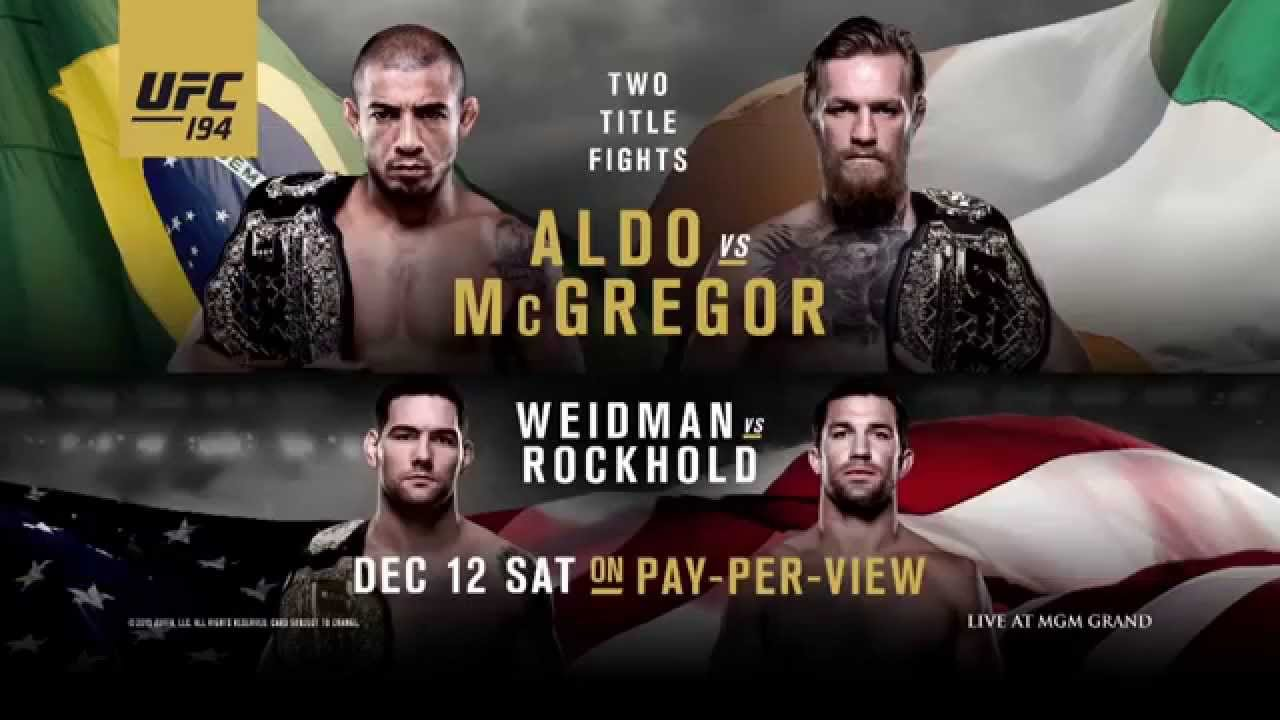 UFC Release Latest UFC 194 Promotional Video Which Features Two Title Fights