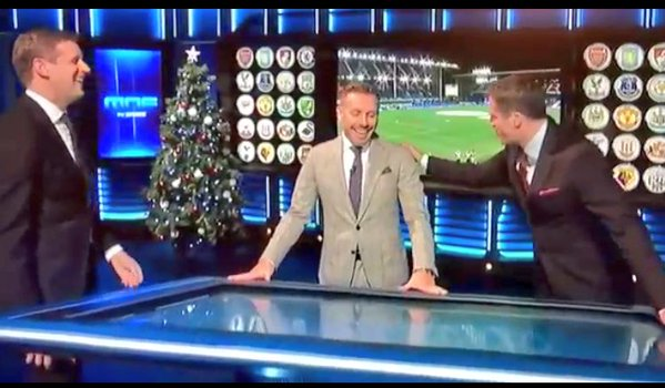 WATCH: Jamie Carragher's brilliant opening welcome to Craig Bellamy on MNF!