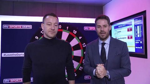 John Terry And Jamie Redknapp Face Off In Dartsball Challenge