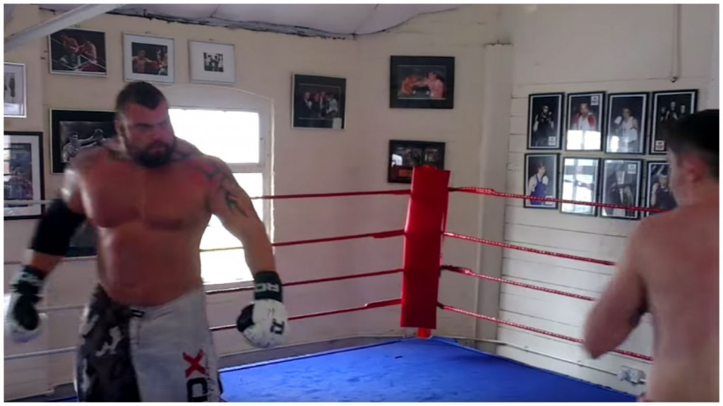WATCH: Britain's 320lbs Strongest Man Steps Into The Ring With 140lbs Pro Boxer