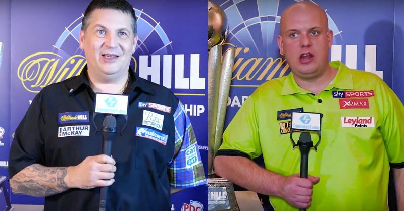 Gary Anderson And Michael Van Gerwen Talk World Darts Championship 2016