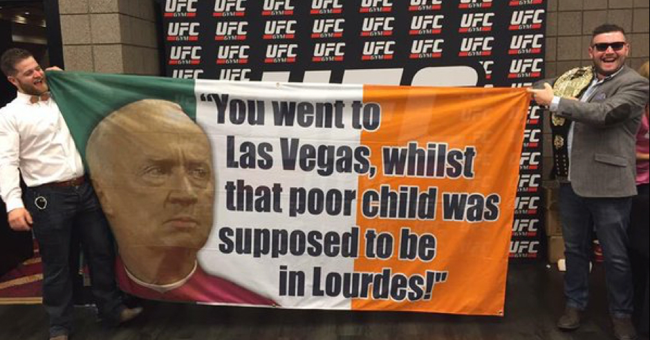 The Best Irish Flags/Banners Heading To Las Vegas For UFC 194