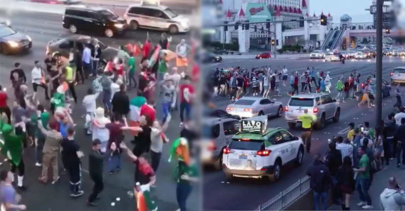 Irish Fans Hold Up Traffic In Las Vegas For Sing-Song