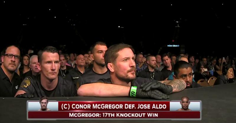 McGregor And Aldo Team Reactions To KO Punch