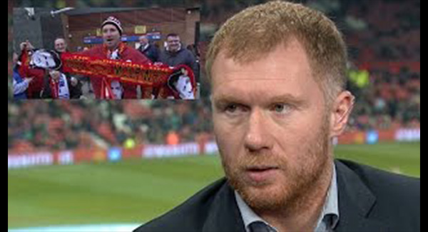 WATCH: Paul Scholes Calls Street Seller Selling Jose Mourinho Scarves Outside Old Trafford A 'Clown'