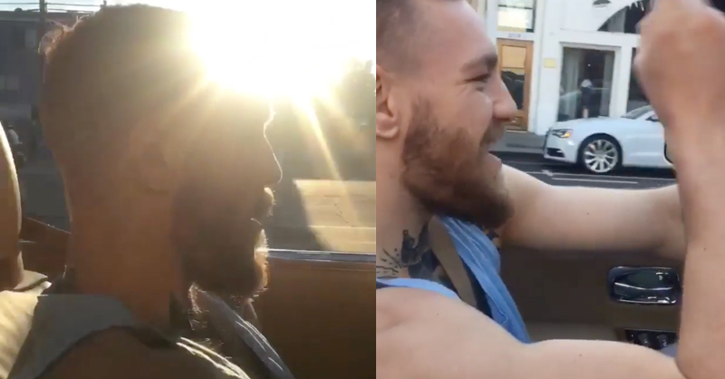 UFC Champion Conor McGregor Sings Mariah Carey While Cruising In LA