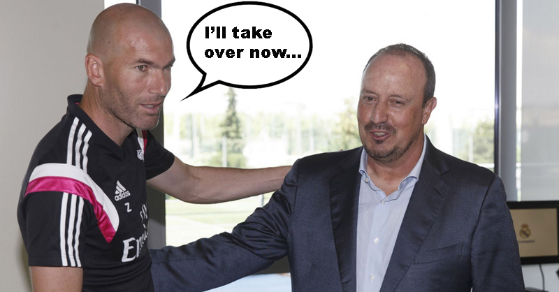 Rafa Benitez Set To Be Replaced By Zinedine Zidane