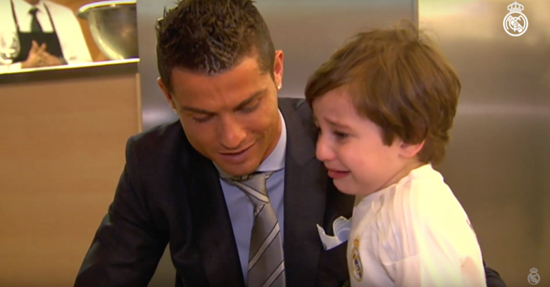 Cristiano Ronaldo Meets Boy Orphaned By Suicide Bomb Attack