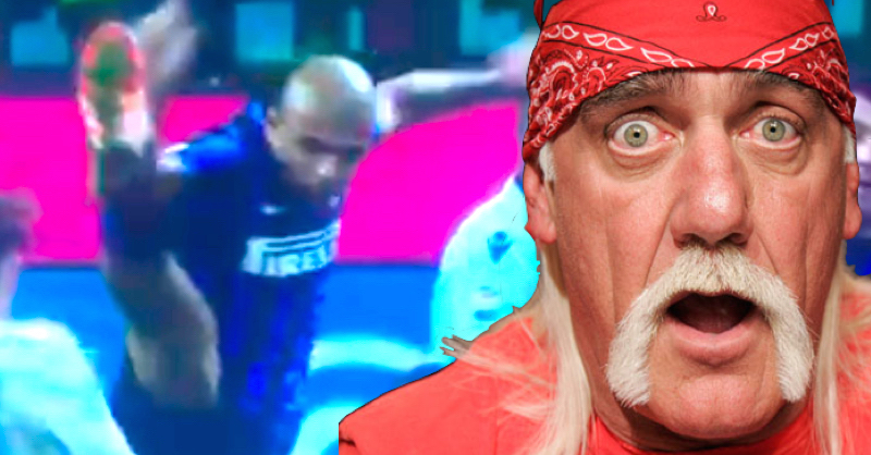 VIDEO: Felipe Melo Attempts Hulk Hogan's 'Big Boot' During Game