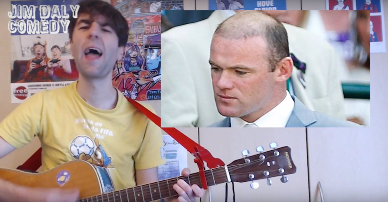 Comedian Jim Daly Writes Hilarious Song About Wayne Rooney's Scoring Drought