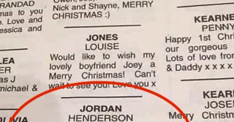 Brendan Rodgers Sends Jordan Henderson Christmas Message In Classifieds