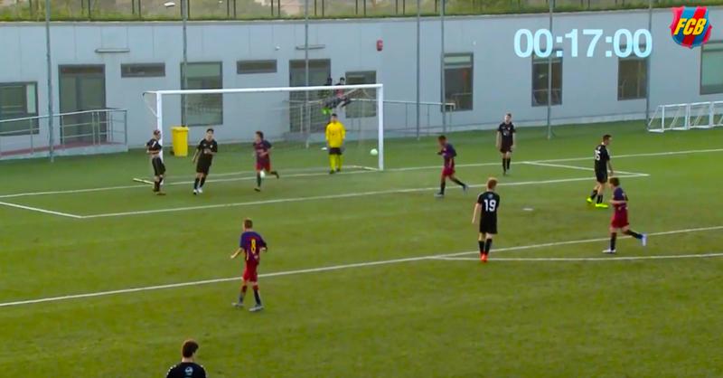 Barcelona's Cadete B Score Splendid Team Goal In 17 Seconds