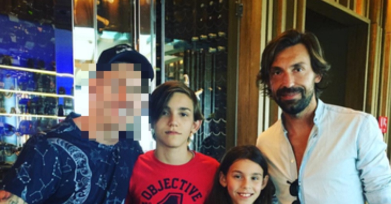 You'll Never Guess Who Pirlo Bumped Into In Dubai