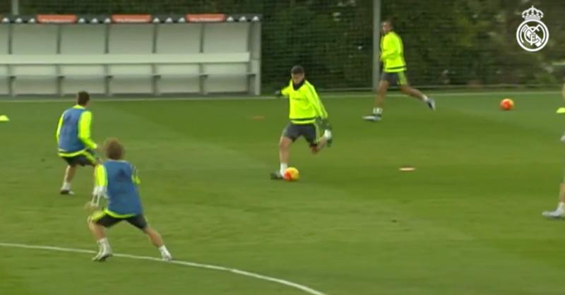 James Rodriguez Plays Insane Pass At Real Madrid Training