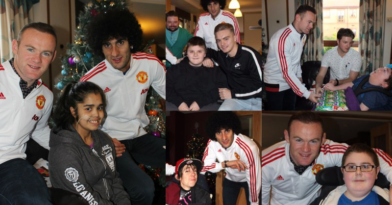 Manchester United Make Annual Visit To Local Children's Hospital