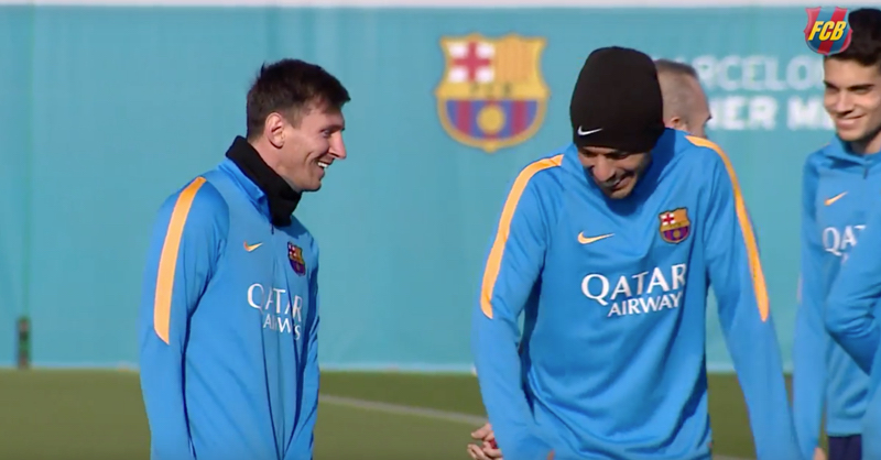 Barcelona's Complete Last Training Session After Hugely Successful 2015