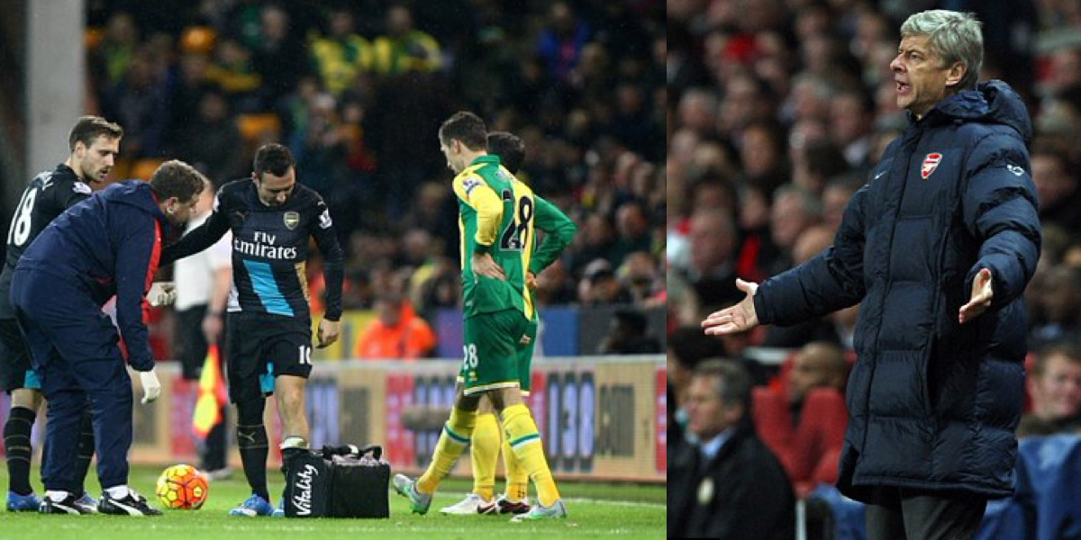 Arsene Wenger Admits Santi Cazorla Could Be Out Until March