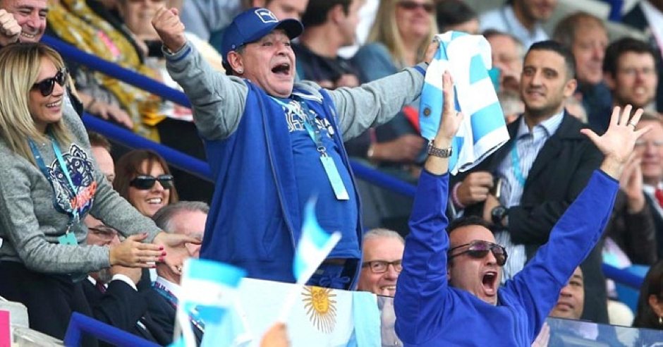 Diego Maradona's Best Bits At The Rugby World Cup