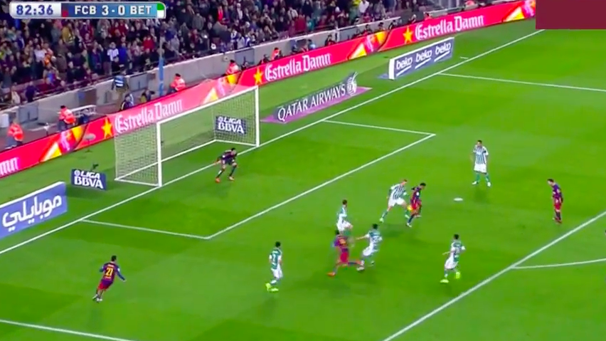 What a touch by Neymar and what a goal