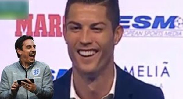 WATCH: Cristiano Ronaldo Hits Out At Gary Neville: 'He Looks Like A Rodent!'*