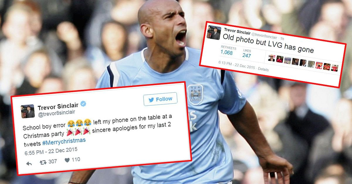 Trevor Sinclair Gets Punished For Announcing LVG's Sacking On Twitter