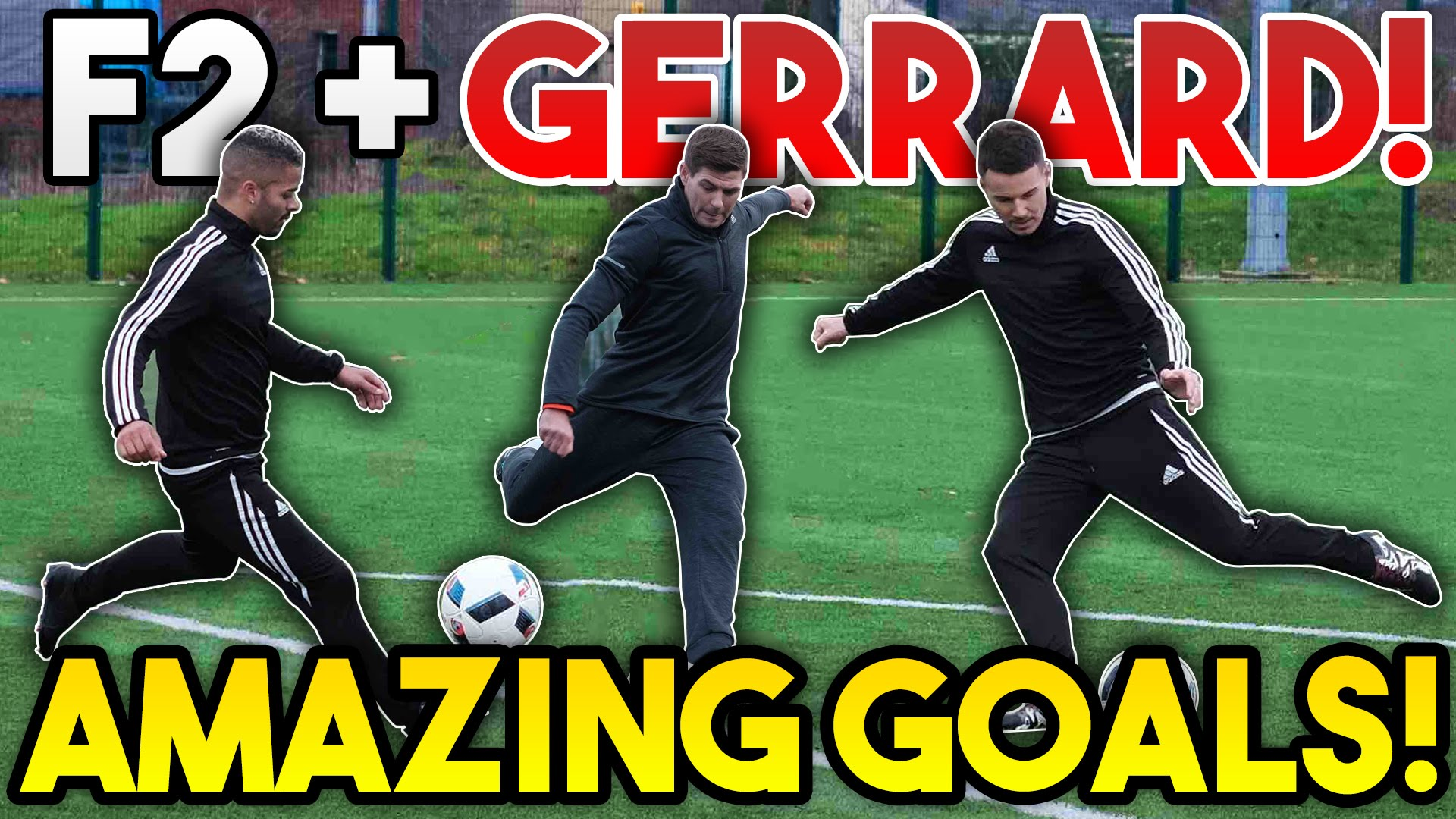 Steven Gerrard Teams Up With F2 Freestylers For Epic Shooting Session
