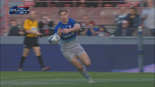 WATCH: Owen Farrell in for a try, cracks a smile and then.. Massive Fail!