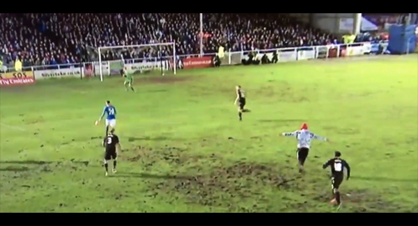 WATCH: That pitch invader at Eastleigh ?