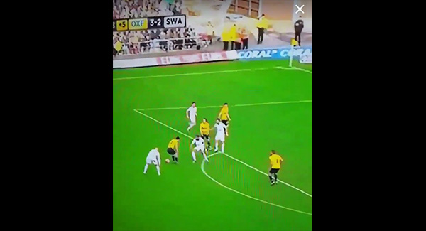 VIDEO: Footage of Jonjo Shelvey completely stops trying vs Oxford!