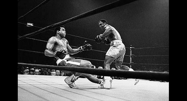 WATCH:  Joe Frazier levels Muhammad Ali with a huge left in the 15th round!