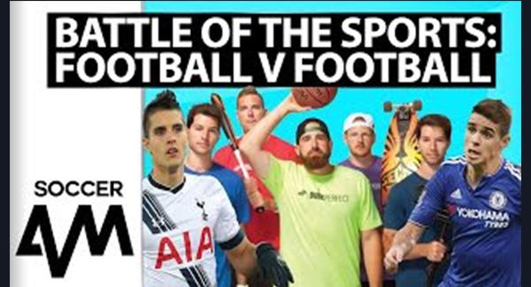 WATCH: Dude Perfect, Oscar and Lamela: Football v Football Challenge