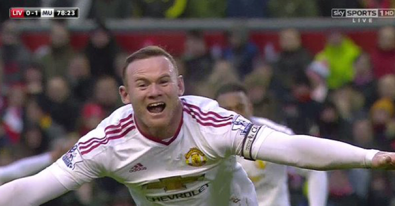 Wayne Rooney Gives Manchester United Lead At Anfield