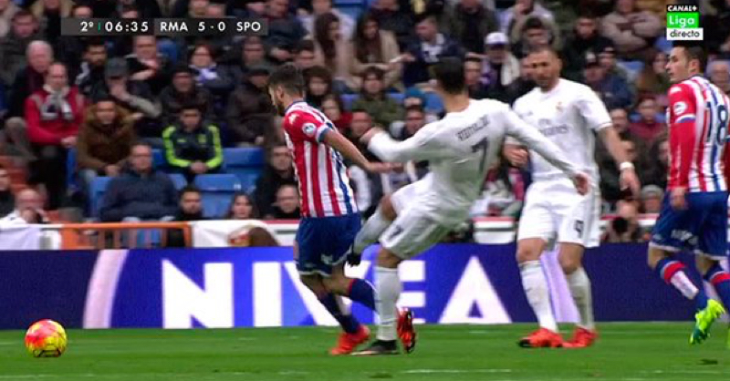 Cristiano Ronaldo Could Face Lengthy Ban After Horrible Kick Against Sporting Gijon