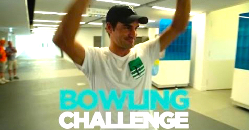Roger Federer, Nick Kyrgios & Andy Murray Attempt The Tennis Bowling Challenge