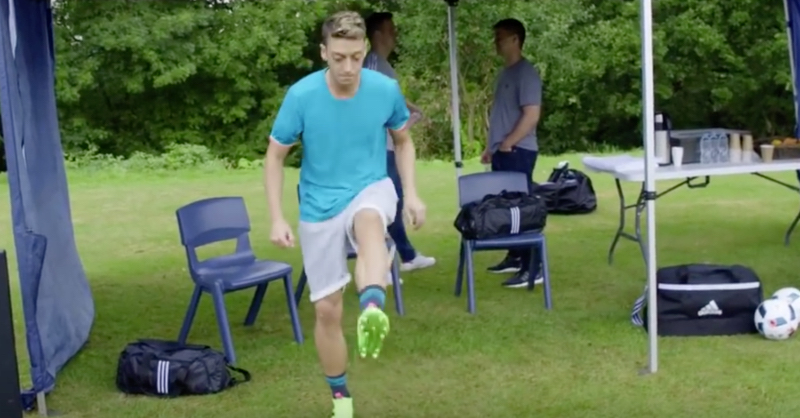 uk availability d6c0f 402eb Mesut Ozil Solos Chewing Gum In New Adidas Ace Advert